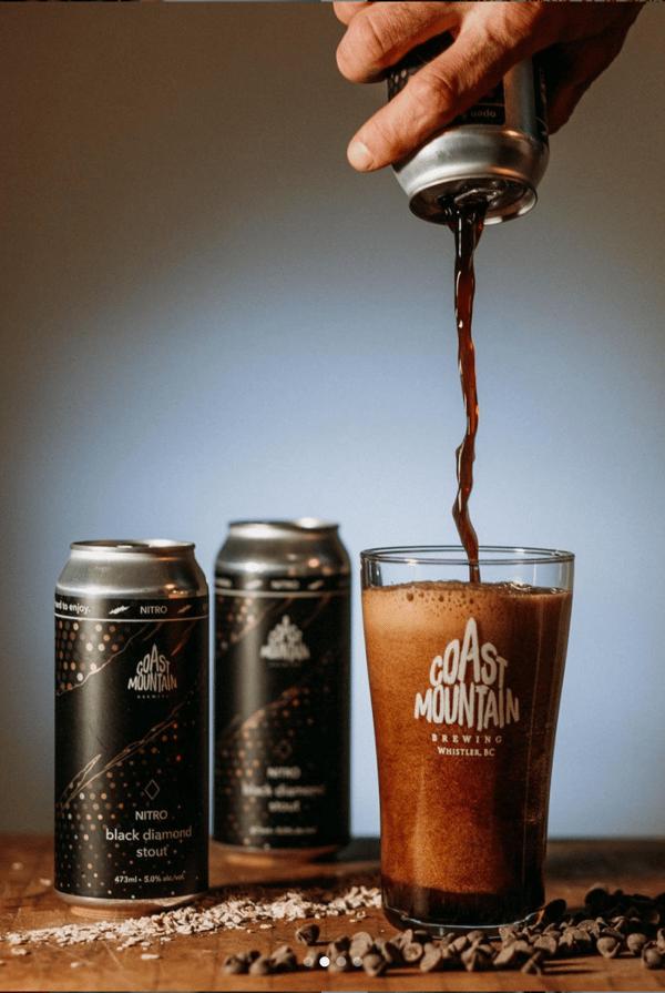 Nitro Black Diamond Stout | Coast Mountain Beer | Summit Labels